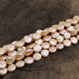 Perla di fiume disco 12-13mm rosa - filo 32 pezzi