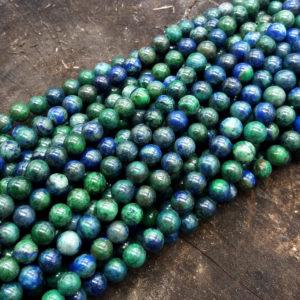 Azzurrite pallina 8 mm - filo 50 pezzi