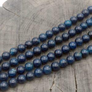 Agata blu scuro pallina 10 mm - filo 38 pezzi