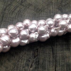 Perla di fiume barocca 9/10x10/14 mm irregolare - filo 35 pezzi