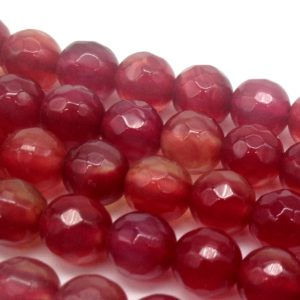 Agata rossa pallina sfaccettata 6 mm - filo 63 pezzi