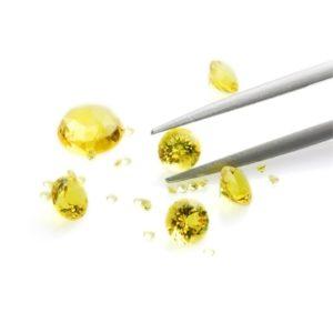 Gemstone reflection Siamite 1032 Yellow Sapphire - 1000 pezzi